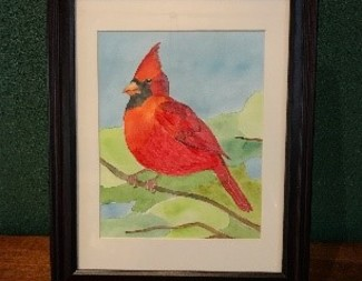 Search watercolor cardinal