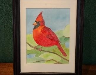 Search watercolor cardinal