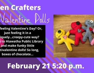 Search feb 21   teen crafters antivalentine dolls