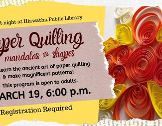 Search mar 19 adult craft night paper quilling