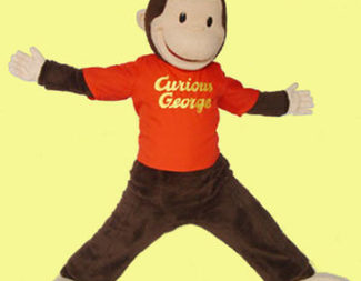 Search curious george promotional custom mascot costume 400x409