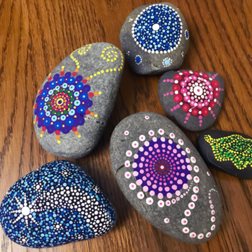 Rock Mandala Painting for the Whole Family at Prairiewoods