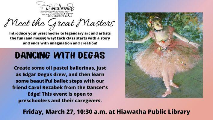 Doodlebugs: Dancing with Degas
