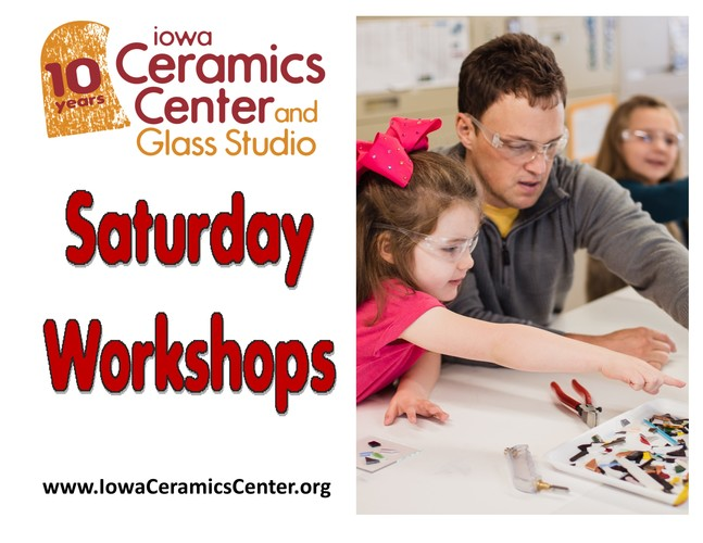 Saturday Art Workshops at ICCGS: Glass Votive with Hearts