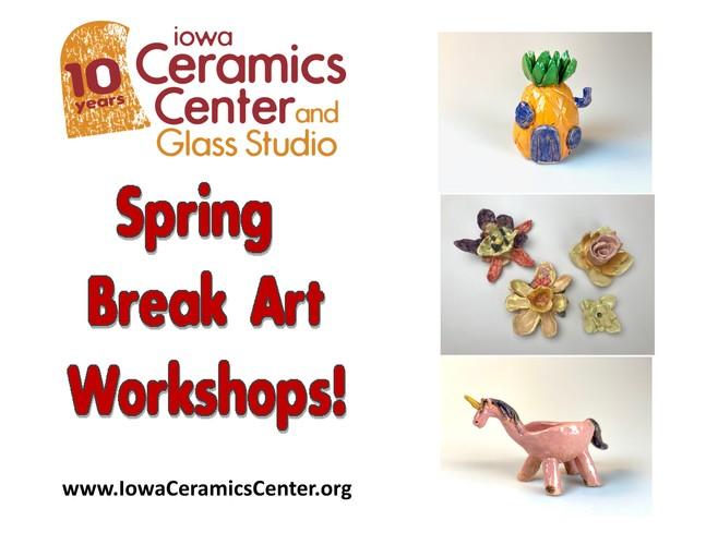 Spring Break Daily Art Workshops at ICCGS!