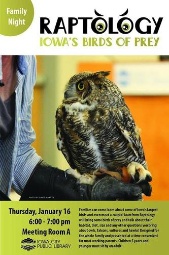 Family Night: Meet the Birds of Iowa with Raptology
