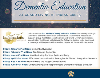 Dementia Education at Grand Living at Indian Creek