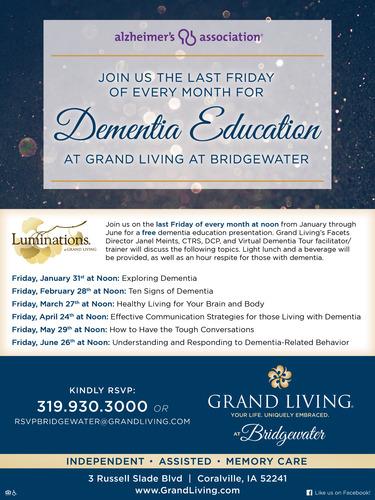 Dementia Education at Grand Living at Bridgewater