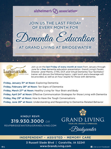 Dementia Education at Grand Living at Bridgewater