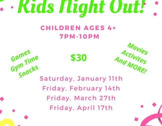 Search kids night out 2019