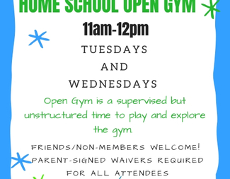 Search home school open gym