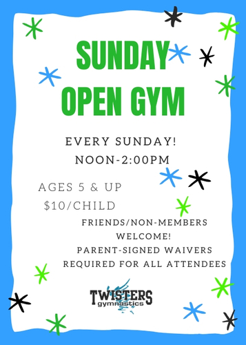 Sunday Open Gym at Twisters!