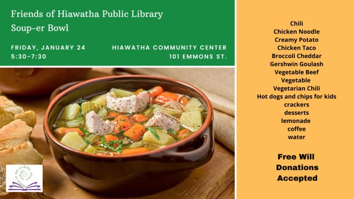 Friends of Hiawatha Public Library Soup-er Bowl