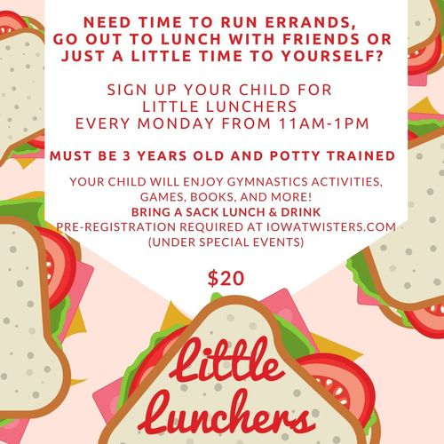 Little Lunchers at Twisters Gymnastics!