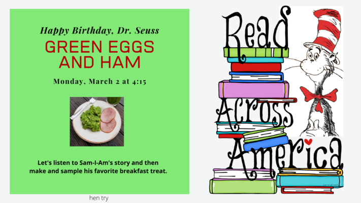 Read Across America: Green Eggs and Ham