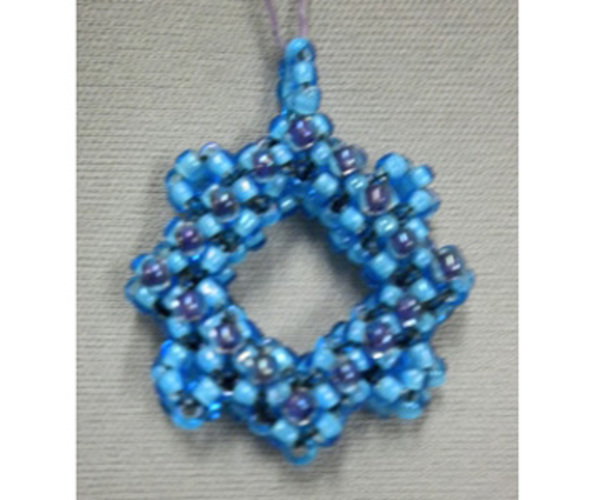Cubed Right Angle Weave Pendant:  Intro to CRAW