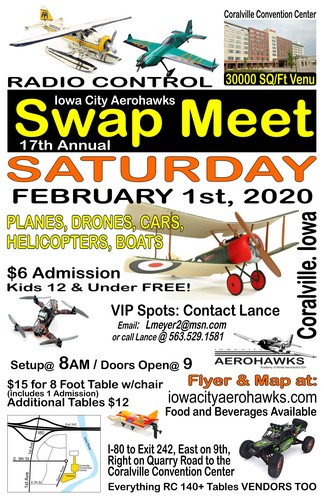 Iowa City Aerohawk 17th Annual Swap Meet