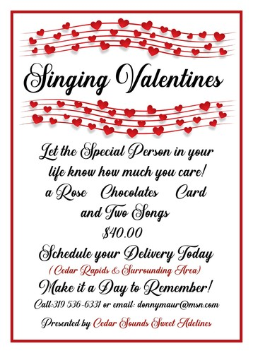 Sweet Adeline's Singing Valentines