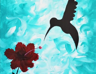 Search hibiscus and hummingbird