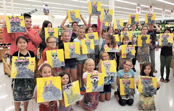 Kid N Canvas at Collins Rd Hy-Vee: Cork N Canvas Iowa