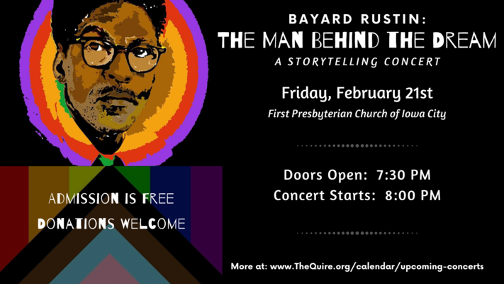 """Bayard Rustin: The Man Behind the Dream"" - A Storytelling Concert"