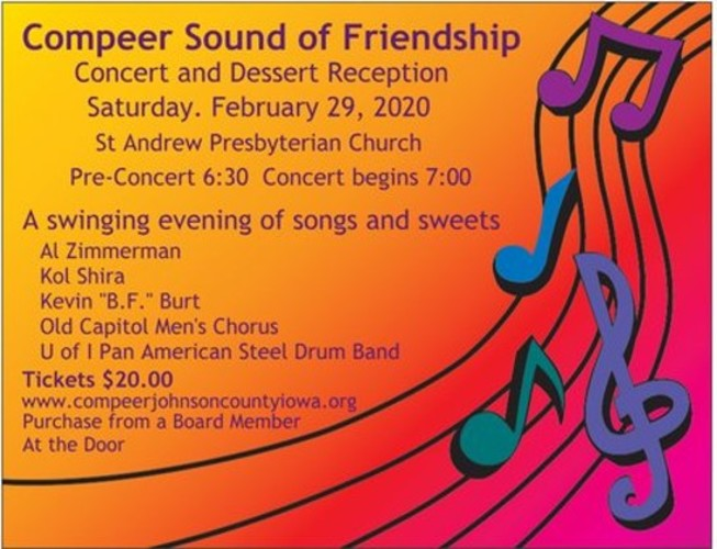 Compeer 2020 Sound of Friendship Concert and Dessert Reception