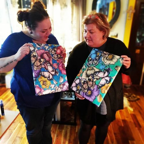Fabric Painting with Rachel