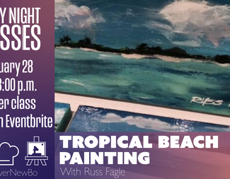 Search tropical beach painting february 28th   facebook event cover