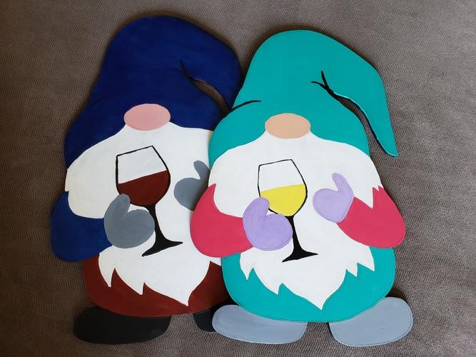 Wild Hogs Saloon-Wine Gnome-Cork N Canvas Iowa