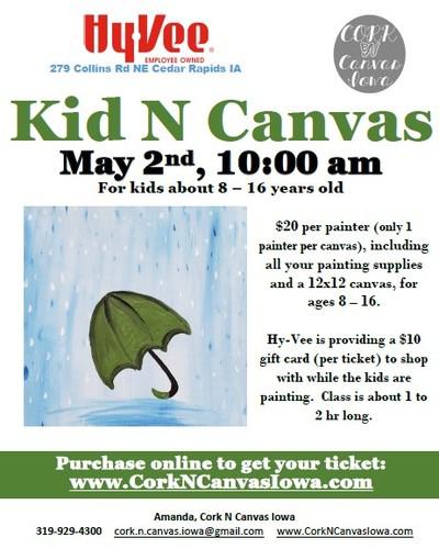 Kid N Canvas at Collins Rd Hy-Vee: Cork N Canvas Iowa