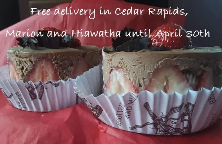 French Pastry : free delivery in the CR area thru out April !