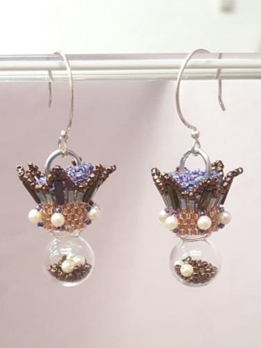 Filled Ornament Earrings