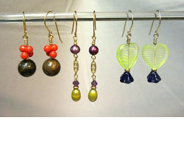 Make 3 Pairs of Earrings:  Intro to Wirework