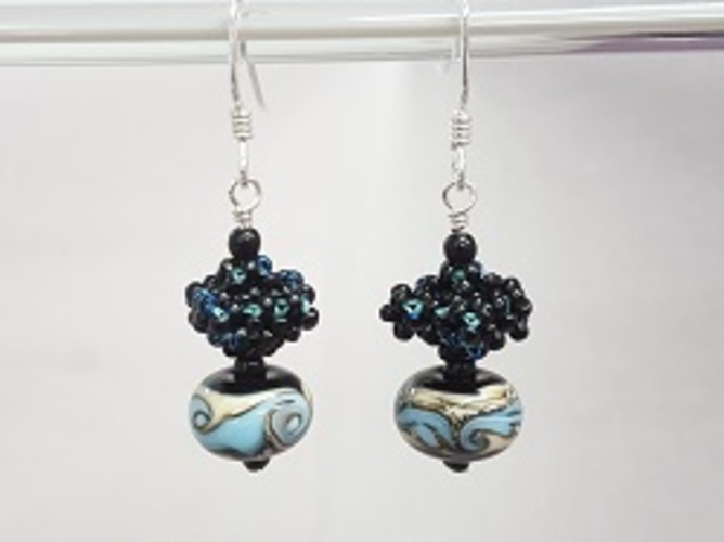 CRAW Bead & Lampwork Earrings