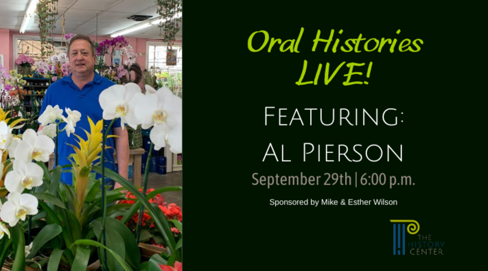 Oral Histories LIVE!  Featuring Al Pierson