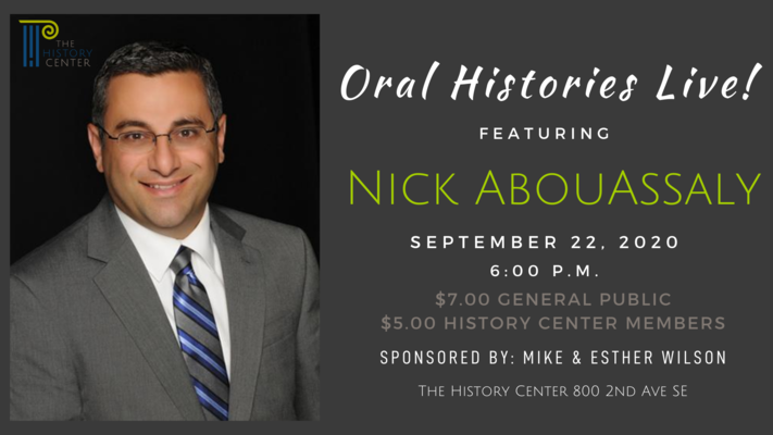 Oral Histories LIVE! Featuring Nick AbouAssaly