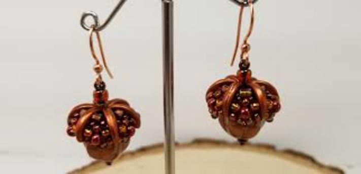 Caramel's Acorn Earrings