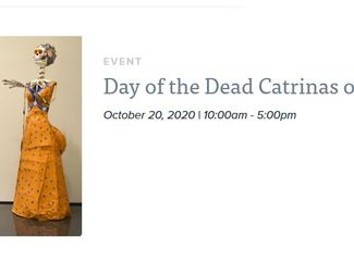 Day of the Dead Catrinas on Display