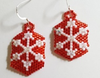 Search snowflake earrings peyote beadology iowa