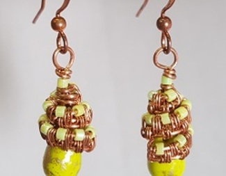 Search zanetta hoehle woven capped earrings beadology iowa