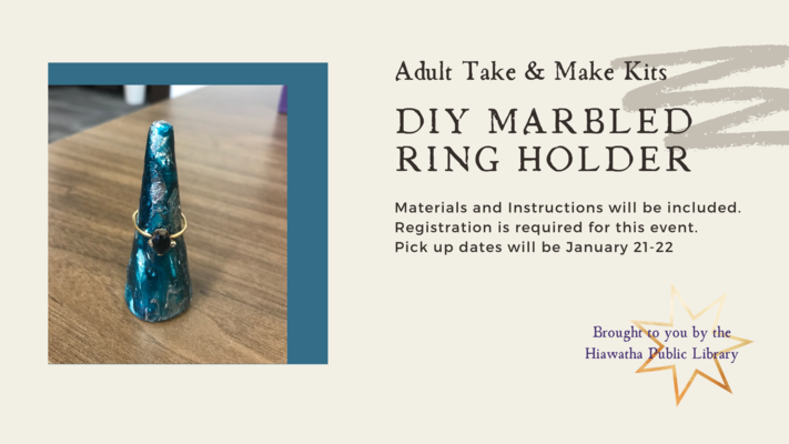 Adult Take & Make: Marbled Ring Holder