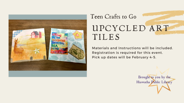 Teen Crafts to Go-Upcycled Art Tiles