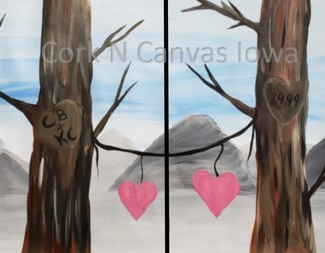 Search couple painting tree both   wm