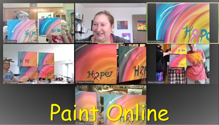 Online painting - Couples Valentines Painting - Cork N Canvas Iowa