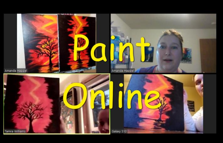 Online Painting- Summer Breeze - Cork n canvas Iowa