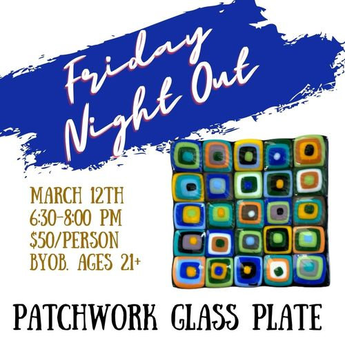 Friday Night Out: Glass Patchwork Plate