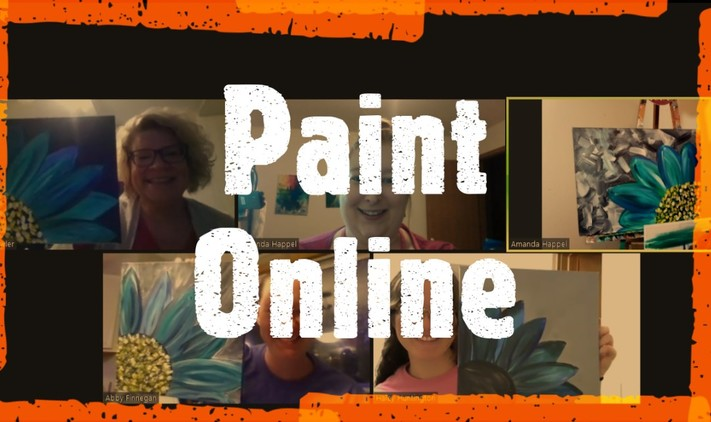 Online painting - Summer Daylilies - Cork n Canvas Iowa