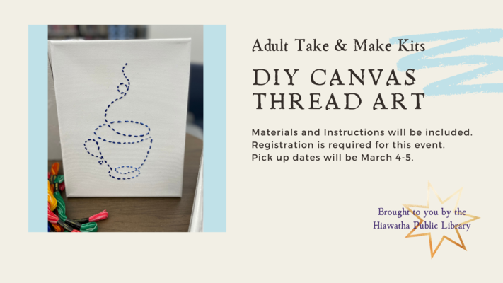 Adult Take & Make: DIY Canvas Thread Art