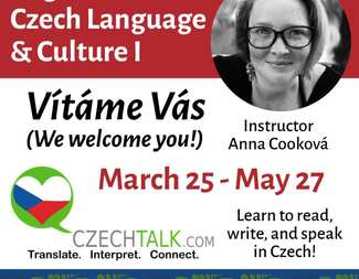 Search czech lesson flyer spring square