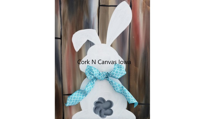 Online Painting -Bunny- Cork n Canvas Iowa